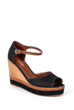 Sapin 35730 Kadın Sandalet Siyah