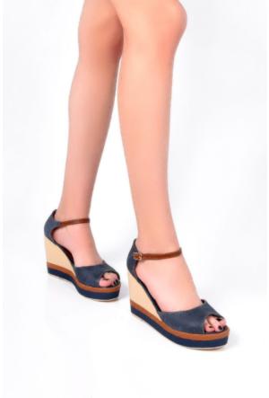 Sapin 35730 Kadın Sandalet Lacivert