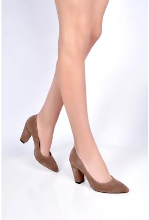 Sapin 25614 Kadın Topuklu Ayakkabı Vizon