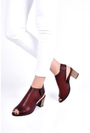 Sapin 25976 Kadın Sandalet Bordo