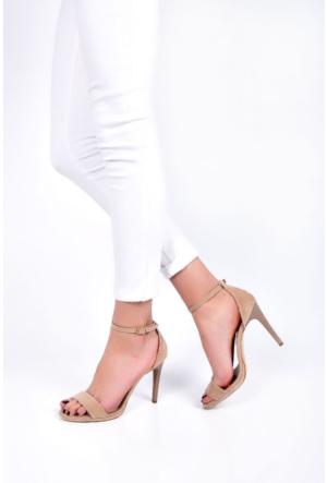 Sapin 25621 Kadın Topuklu Sandalet Kum