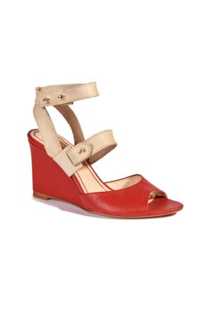 Desa Kadın Sandalet Kırmızı - Bej