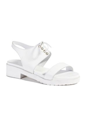 Desa Christina Kadın Deri Sandalet Beyaz