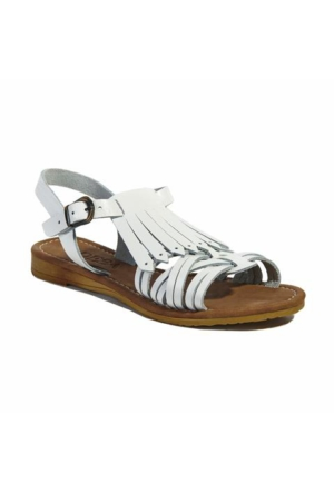 Desa Kadın Deri Sandalet Beyaz