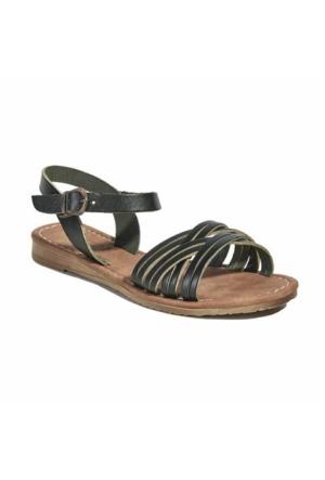 Desa Kadın Deri Sandalet Siyah