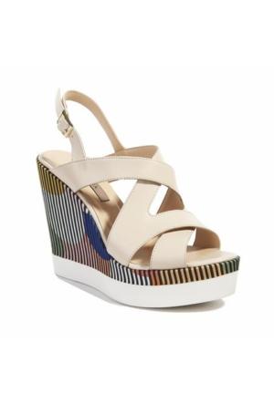 Desa Collection Clarisse Kadın Sandalet Ekru