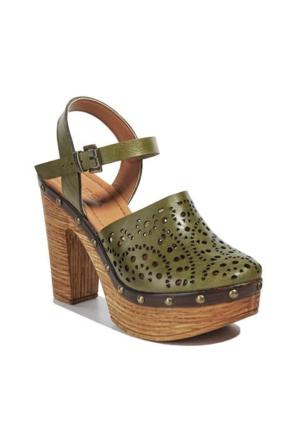 Desa Heidi Kadın Sandalet Yeşil