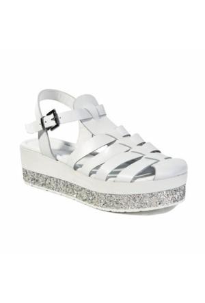 Desa Collection Fiona Kadın Sandalet Beyaz