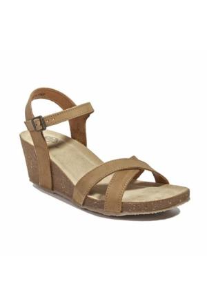 Desa Beisse Kadın Sandalet Krem Rengi