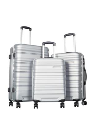 Ççs Polycarbonate Set Ççs5138 Valiz - Set Gümüş