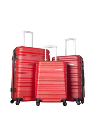 Ççs Polycarbonate Set Ççs5138 Valiz - Set Kırmızı