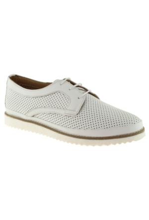 Estile 101-054 Bağlı Beyaz Bayan Ayakkabı