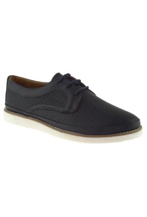 Estile 101-054 Bağlı Lacivert Bayan Ayakkabı