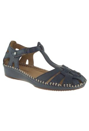 Greyder 51266 Zn Casual Mavi Bayan Sandalet