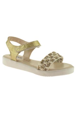 Vicco 921.Z.764 Kız Çocuk Altın Sandalet