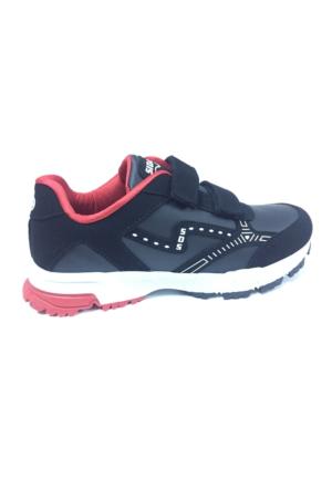 Sıdasa Siyah Cırtlı Spor Ayakkabı