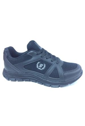 Black Sea Siyah Anoraklı Günlük Spor Yürüyüş Koşu Ayakkabı