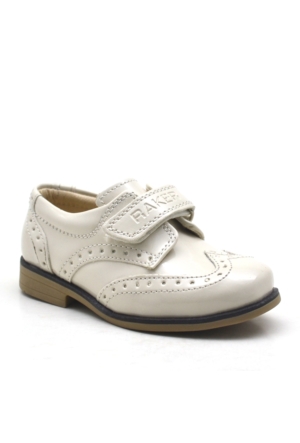 Raker Krem Cırtlı Sünnetlik Erkek Bebek Ayakkabısı