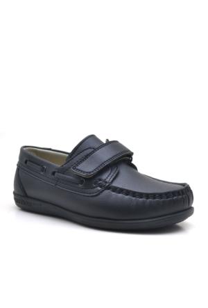 Raker Siyah Timber Cırtlı Erkek Çocuk Okul Ayakkabısı