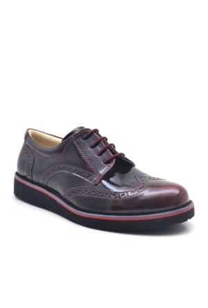 Raker Siyah Bordo Rugan Erkek Çocuk Ayakkabısı