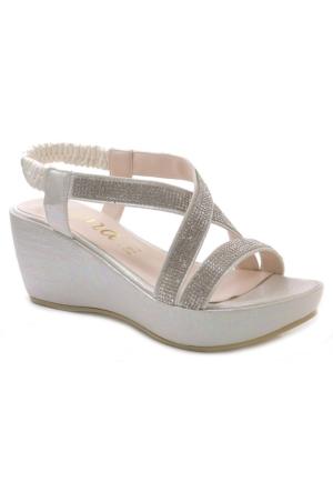 Jena 300210 Taşlı Lastikli Sandalet