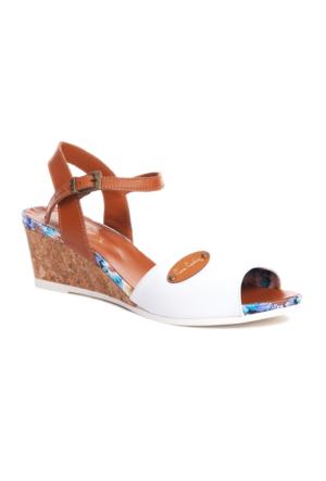 Pierre Cardin Kadın Sandalet Beyaz
