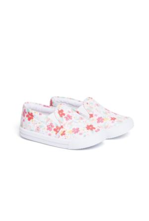 LC Waikiki Bebek Çiçek Baskılı Bağcıksız Ayakkabı