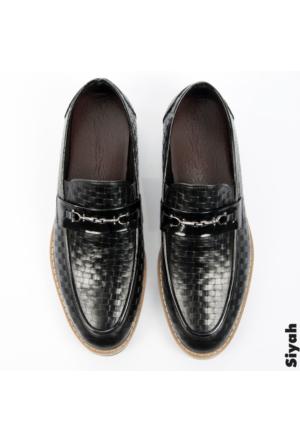 Deepsea Siyah Deri Erkek Ayakkabı 1701001-002