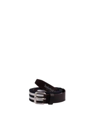 Timberland A1D4F019 Canvas Striped Belt Black Irıs Kemer