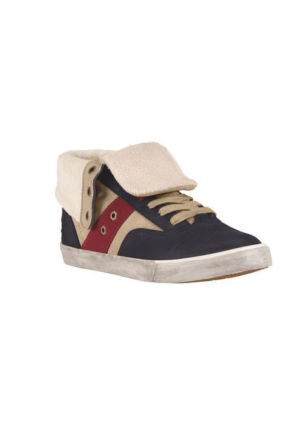 Timberland Navy 8667A Ek Glastenbury Sneaker Faux Fur Roll Top Ayakkabı