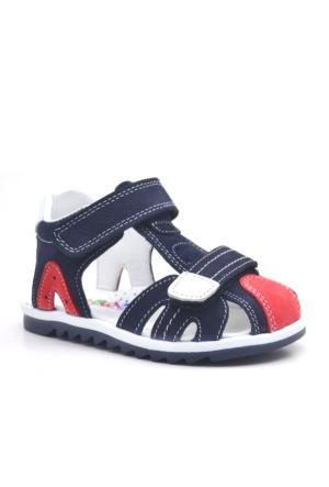 Nino® Cırtlı Ortopedik Lacivert Erkek Bebek Sandalet