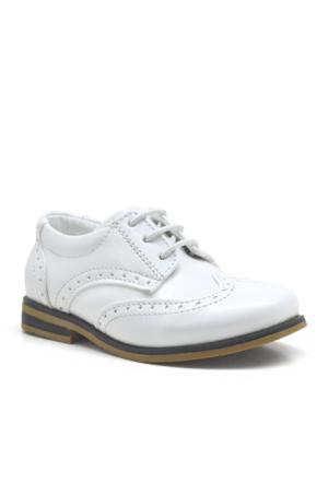 Raker ® Beyaz Rugan Klasik Erkek Bebek Sünnet Ayakkabısı