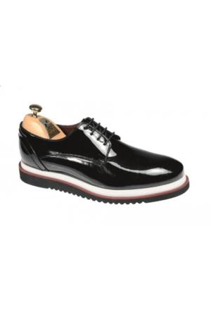 Paul Branco Siyah Rugan Casual Ayakkabı