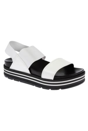 Shalin Szr 123 Beyaz Kadın Dolgu Taban Sandalet