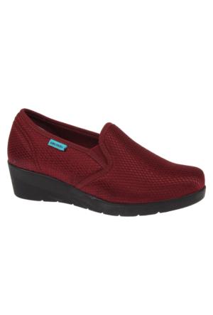 King Paolo Kng 5833 Bordo Kadın Ayakkabı Ortopedik Ayakkabı