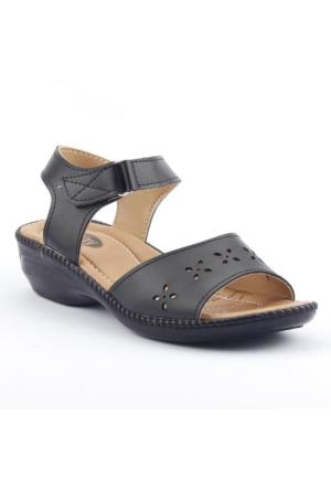Ccway 11501 Anatomic Cırtlı Lazer Günlük Bayan Sandalet Ayakkabı