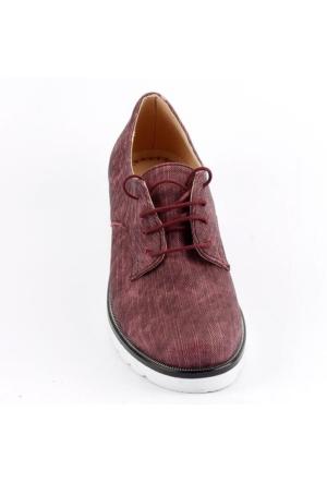 Armoni 40 Kot Cilt Bağcıklı Günlük Bayan Oxford Babet Ayakkabı