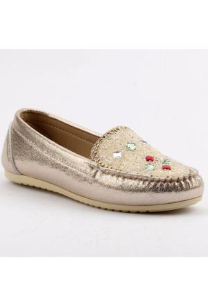 Ccway 070 Rok Ayna Taşlı Günlük Bayan Babet Ayakkabı