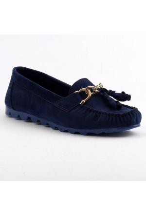 Ccway Kal-44 Kadife Günlük Rok Bayan Babet Ayakkabı