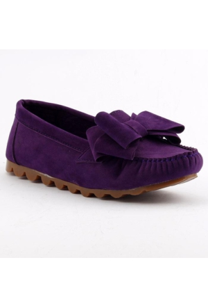 Ccway Kal-44 Papyonlu Rok Bayan Günlük Babet Ayakkabı