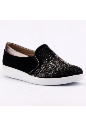 RSL 44 Platin Simli Günlük Kadın Vans Ayakkabı