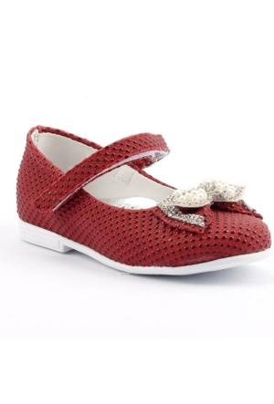 Sema 30 Günlük Abiye Cırtlı Kemerli Tokalı Kız Çocuk Babet Ayakkabı
