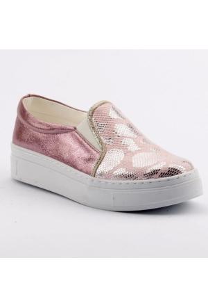 Sema 58 Günlük Abiye Cırtlı Kemerli Tokalı Kız Çocuk Vans Ayakkabı