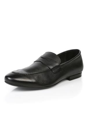 Natural 151 Merdane Astarsız 1020 Siyah Floter Ayakkabı