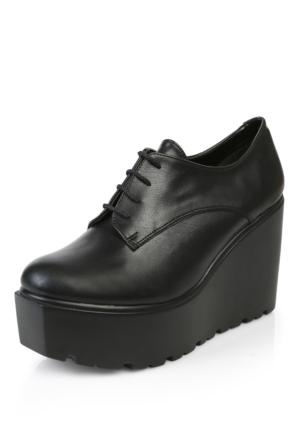 Tibu 102 Siyah Cilt Ayakkabı