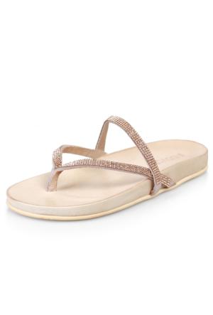Inuovo 6 6056 Gold Strass-Pralıne Ayakkabı