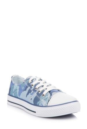 DeFacto Erkek Çocuk Kamuflaj Desenli Ayakkabı Mavi