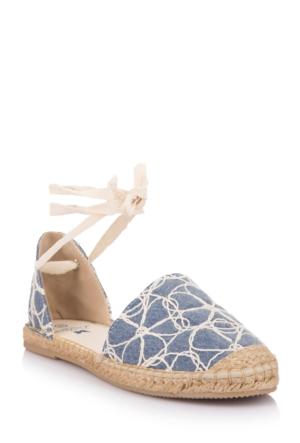 DeFacto Kadın Espadril Açık Ayakkabı Lacivert