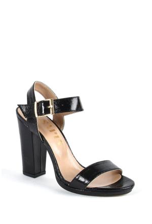 Sapin 25620 Kadın Topuklu Sandalet Siyah