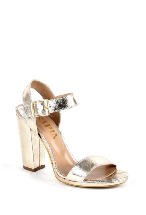 Sapin 25620 Kadın Topuklu Sandalet Altın
